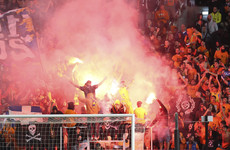 Fans put on an incredibly intense show as APOEL held Dortmund in Cyprus
