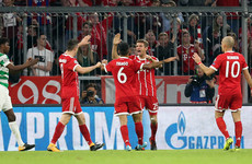 Celtic outclassed by Bayern on Heynckes' Champions League return