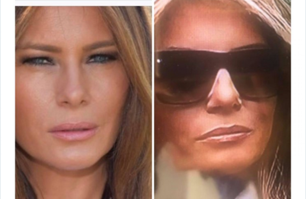 Image result for picture of joe vargas' tweet about fake melania