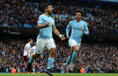 Sergio Aguero equals Man City all-time scoring record