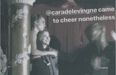 Cara Delevingne and Chloe Moretz went to see St. Vincent in the Olympia last night