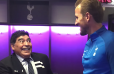 Maradona had some advice for Harry Kane before Tottenham's win over Liverpool
