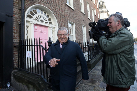 Allied Irish Bank Chief Executive Bernard Byrne arriving the Department of Finance.