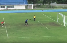 Goalkeeper learns harsh (but hilarious) lesson about premature celebration