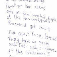 An Irish homeless charity received the loveliest letter from a 7-year-old for their work during Storm Ophelia