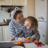 How should I talk to my three-year-old son about 'bad people'?