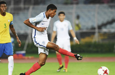Liverpool striker's second consecutive hat-trick sends England into the U17 World Cup final