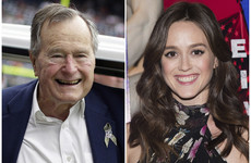 George Bush Snr apologises for patting women's backside during 'joke routine'