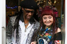 Nile Rodgers hung out at the relaunch of an Irish designer's shop before Chic's gig at the 3Arena
