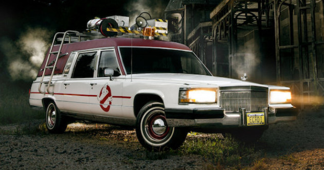 You could own this beautiful replica of the Ghostbusters Ecto-1 car