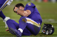 Horror hit on Joe Flacco overshadows Ravens' rout of Dolphins