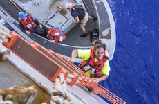 US sailors and two dogs rescued after five months lost at sea