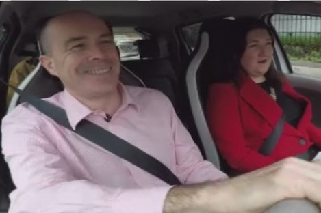 Environment Minister Denis Naughten took TheJournal.ie for a spin in his new electric car.