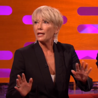 Emma Thompson told Graham Norton about how she 'almost died' in an Arctic Monkeys mosh pit