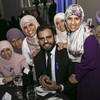 Ibrahim Halawa was on hand to present his sisters with a special award in Dublin last night