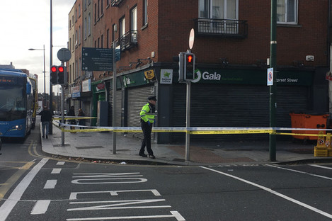 The scene of the attack was sealed off this morning.