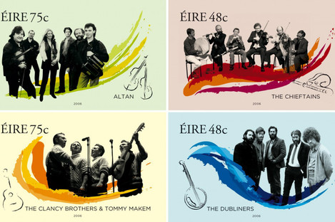 The Chieftains were honoured on Irish stamps in 2006.
