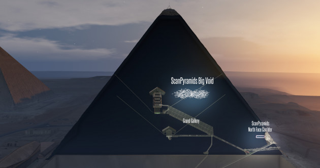 Scientists discover secret chamber the size of a passenger plane inside Great Pyramid