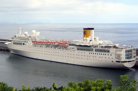 The Costa Allegra cruise ship in Genoa's harbour in Italy (File photo)