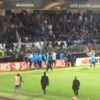 Patrice Evra sent off before Europa League game after kicking Marseille fan
