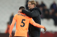 Gini Wijnaldum was so sure he wouldn't play against West Ham, he didn't even bring his boots