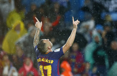 Barcelona's Paco Alcacer comes in from the cold to be their two-goal hero against Sevilla