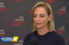 Uma Thurman's simmering rage when asked about sexual harassment in Hollywood is being applauded