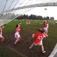 Did she mean it? Cora Staunton lobs 6 players with close-range free as Carnacon seal Connacht title
