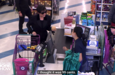 Ellen Degeneres sent Kris Jenner to a 99c store and told her what to say via an earpiece in a gas video