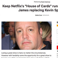 A petition to replace Kevin Spacey with Kevin James in House Of Cards is getting a crazy amount of signatures