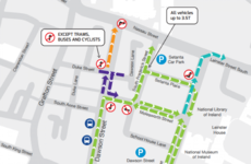 From today, permanent diversions are in place on Dublin's Dawson Street