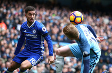 Kevin De Bruyne and City are the best in the Premier League, says Hazard