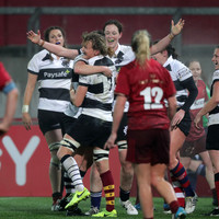 Barbarians score emphatic win over Munster in historic first appearance for women's team
