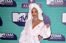 Rita Ora rocked up to the EMAs wearing a dressing gown with a towel and it's already a meme
