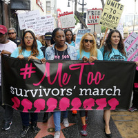 Hundreds march through Hollywood in protest against sexual abuse