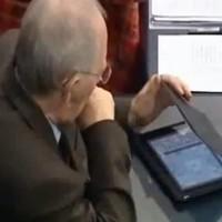 Watch: German finance minister plays Sudoku during Greek bailout debate
