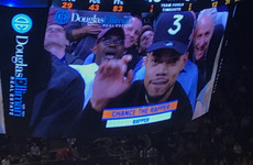 The most ludicrous caption was given to Chance The Rapper at a basketball game last night