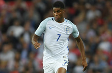 Southgate hails 'exciting' Rashford as striker leads England's youth movement