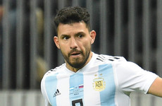 Sergio Aguero taken to hospital after collapsing at half-time in Argentina-Nigeria match