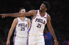 Embiid enjoys historic night with monstrous 46-point performance against Lakers