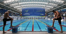 Your almost symmetrical picture from the national swimming championships... of the day