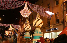Dublin's Christmas light were switched on tonight - but they were a little different this year