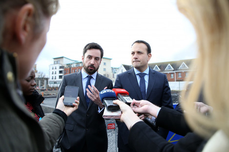 Minister for Housing Eoghan Murphy and Taoiseach Leo Varadkar answer questions from the media.