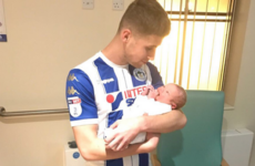 A night to remember! Wigan striker scores twice before rushing to hospital for birth of his son
