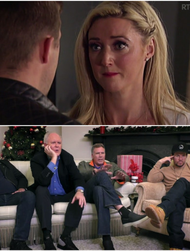 Will Ferrell, Mel Gibson and the lads were thoroughly engrossed in Fair City on Gogglebox