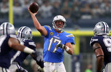 Rivers leads red-hot Chargers past Cowboys while Vikings overpower Lions
