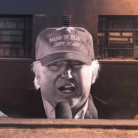 The artists protesting the Stormzy mural removal hit back with this great Donald Trump graffiti