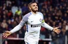 Goal machine Icardi fires Inter to top of Serie A but refuses to comment on links to Real Madrid