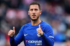 'I try in training to have more of a rest and then in games I give everything' - Hazard