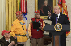 Donald Trump calls senator 'Pocahontas' at event honouring Native Americans